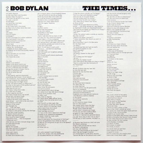 Insert 1A, Dylan, Bob - Times They Are A-Changin'