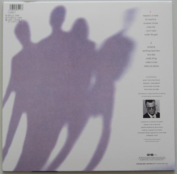 Back cover, Tin Machine (Bowie, David) - Tin Machine