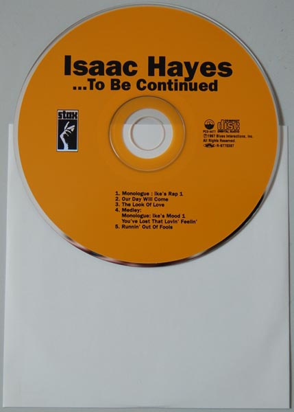 CD, Hayes, Isaac - To Be Continued