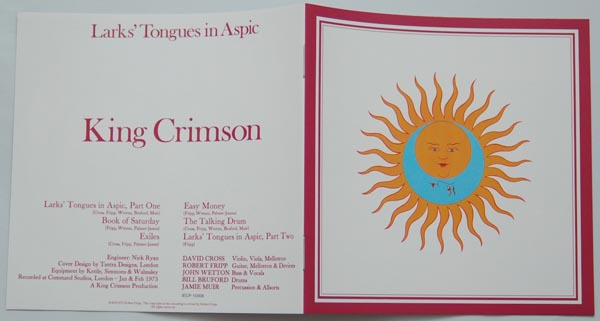 Booklet, King Crimson - Larks' Tongues In Aspic