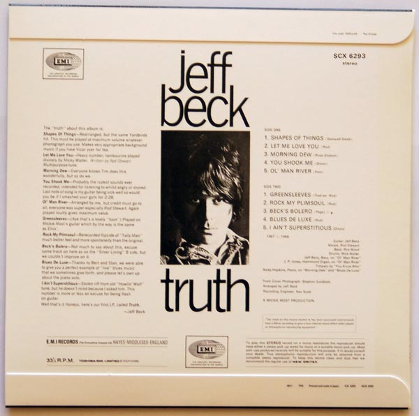 Back cover, Beck, Jeff - Truth
