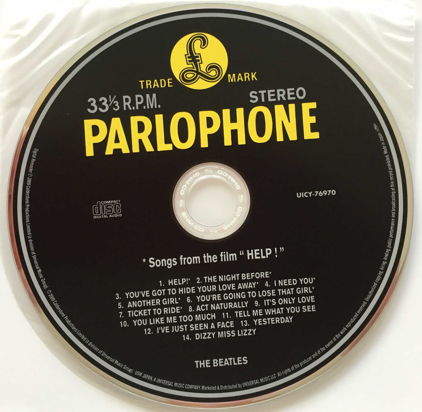 CD, Beatles (The) - Help! [Encore Pressing]