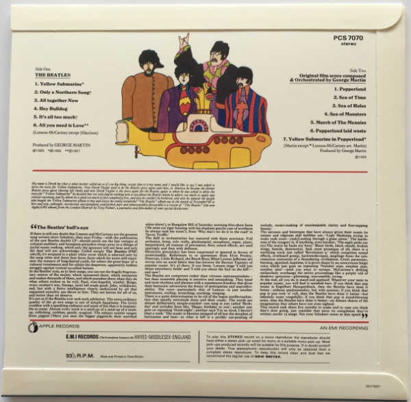 Back Cover, Beatles (The) - Yellow Submarine [Encore Pressing]