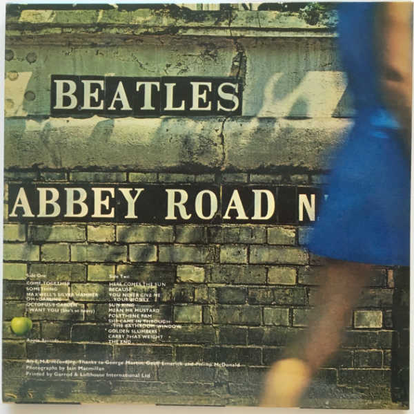 Back Cover, Beatles (The) - Abbey Road [Encore Pressing]