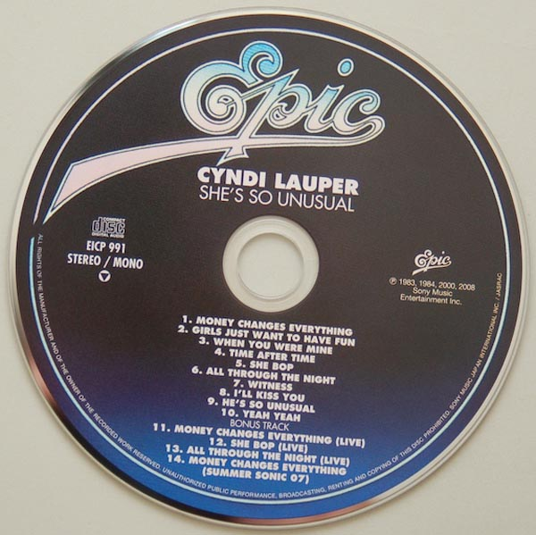 CD, Lauper, Cyndi - She's So Unusual