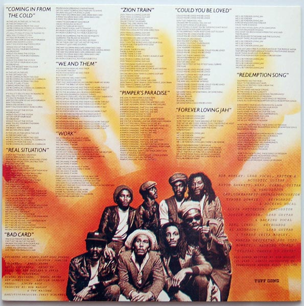 Back cover, Marley, Bob - Uprising