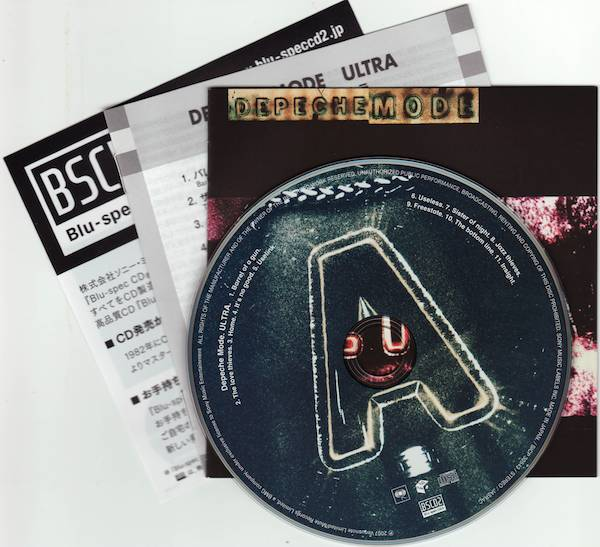 CD & Japanese and English Booklets, Depeche Mode - Ultra