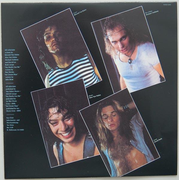 Inner sleeve side B, Van Halen - Van Halen
