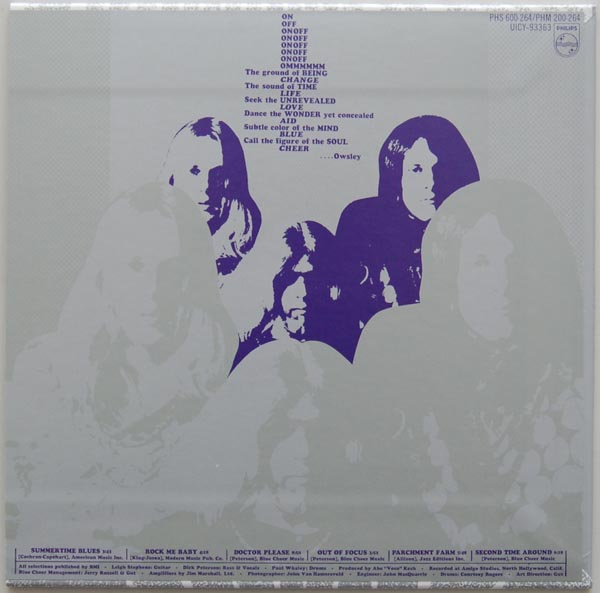 Back cover, Blue Cheer - Vincebus Eruptum
