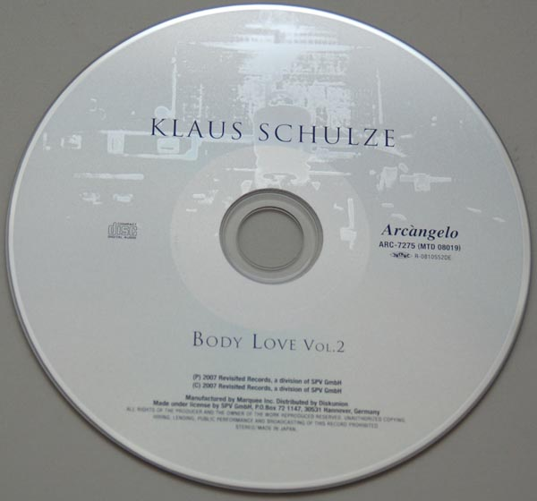 CD, Schulze, Klaus  - Body Love Vol. 2