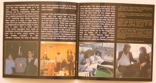 Booklet pages 6 & 7, T Rex (Tyrannosaurus Rex) - Electric Warrior +8