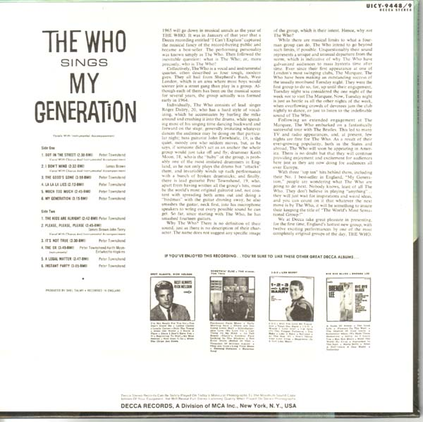(U.S. cover) - back, Who (The) - My Generation +17