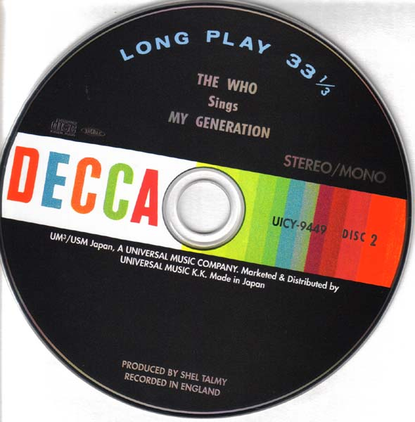 (U.S. cover) - CD, Who (The) - My Generation +17