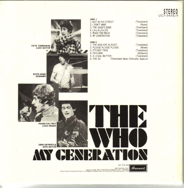 (U.K. cover) - Back, Who (The) - My Generation +17