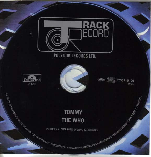 CD and Insert, Who (The) - Tommy