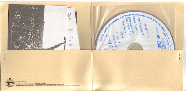 Gatefold view showing inserts, Who (The) - Live at Leeds +8
