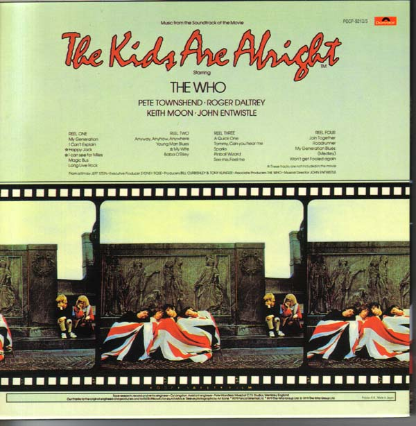 Back Cover, Who (The) - The Kids Are Alright