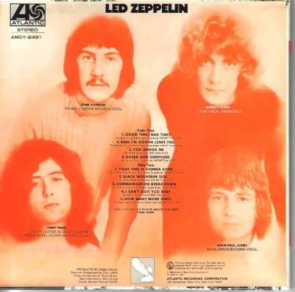 Back cover, Led Zeppelin - Led Zeppelin