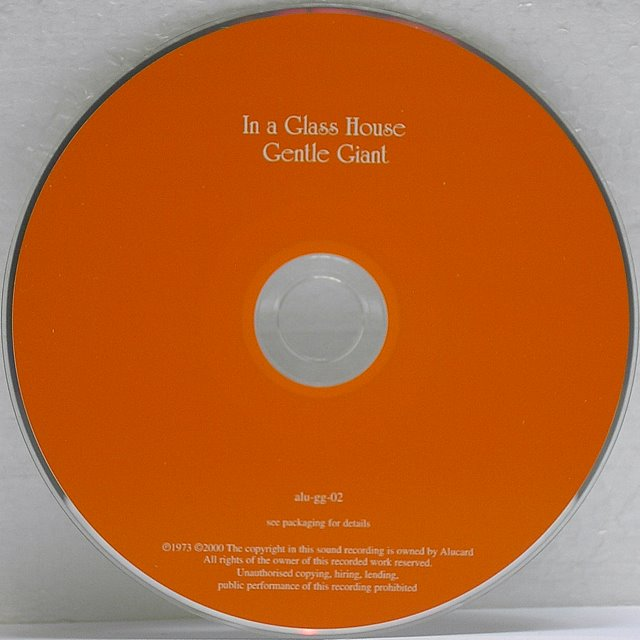 CD, Gentle Giant - In a Glass House