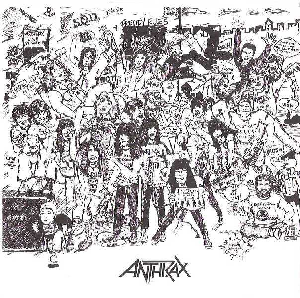 Inner bag front, Anthrax - Spreading The Disease