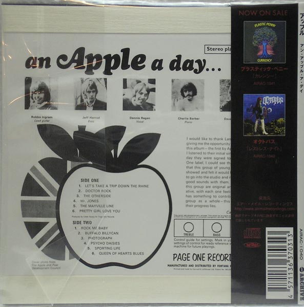 Back cover, Apple - An Apple A Day +4