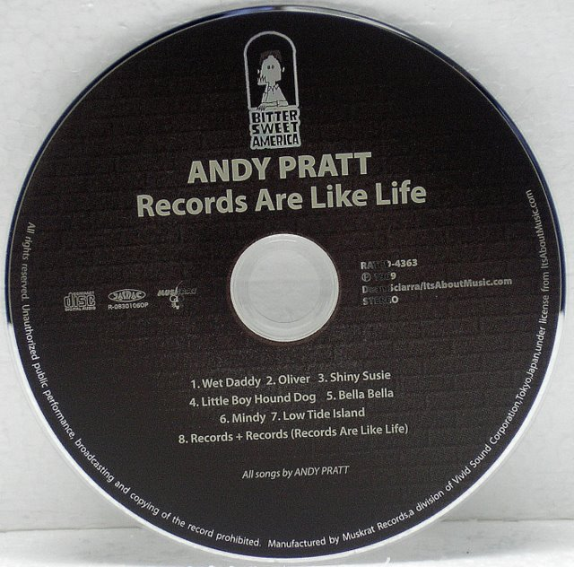 CD, Pratt, Andy - Records Are Like Life