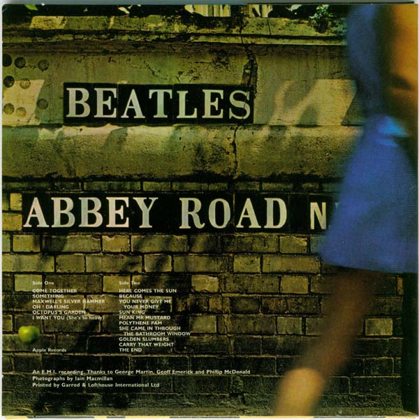 Back cover, Beatles (The) - Abbey Road