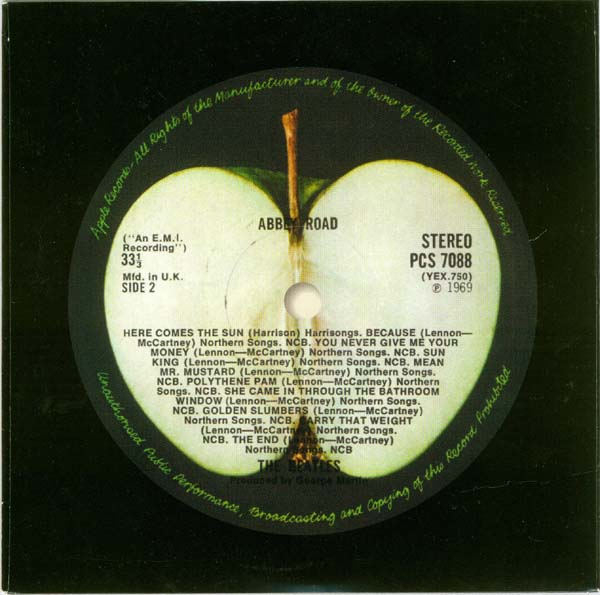 Inner bag - side 2, Beatles (The) - Abbey Road