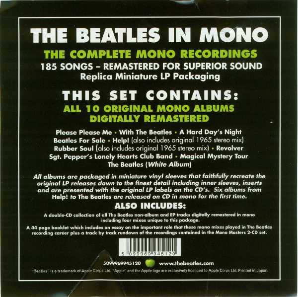 Flyer inside shrink wrap - outside box, Beatles (The) - The Beatles in Mono