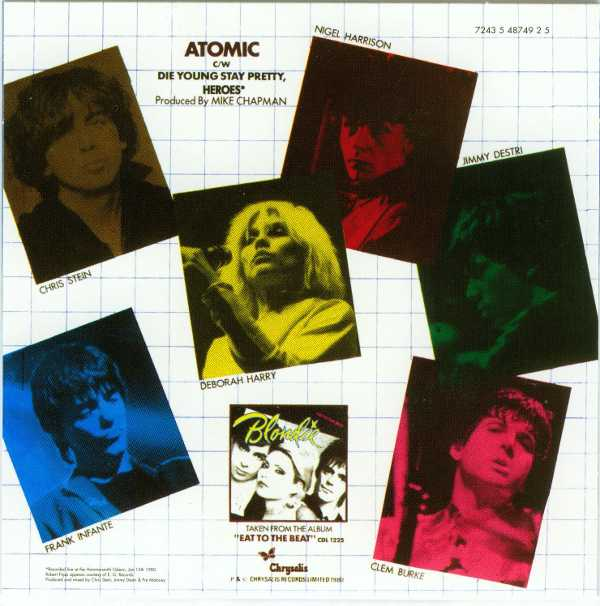 Atomic Back Cover, Blondie - Singles Box