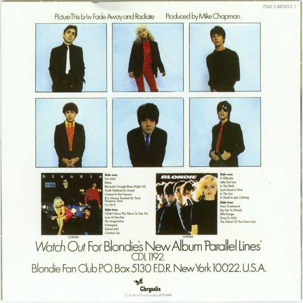 Picture This Back Cover, Blondie - Singles Box