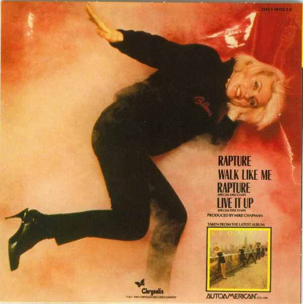 Rapture Back cover, Blondie - Singles Box