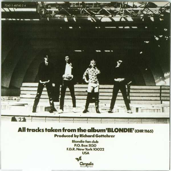 Rip Her To Shreds Back Cover, Blondie - Singles Box