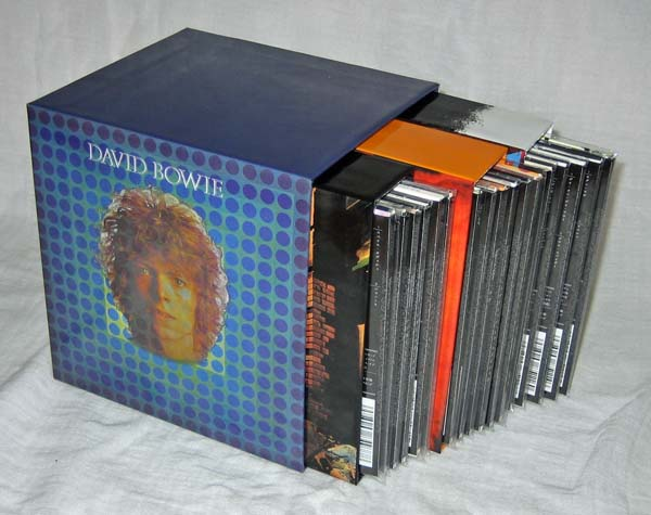 Full set of CDs and three Disk Union boxes inside the Space Oddity Box, Bowie, David - Space Oddity Box