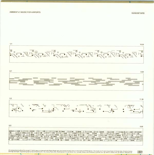 Back cover, Eno, Brian - Ambient 1 - Music For Airports