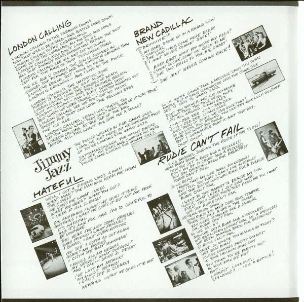 Inside Gatefold, Clash (The) - London Calling