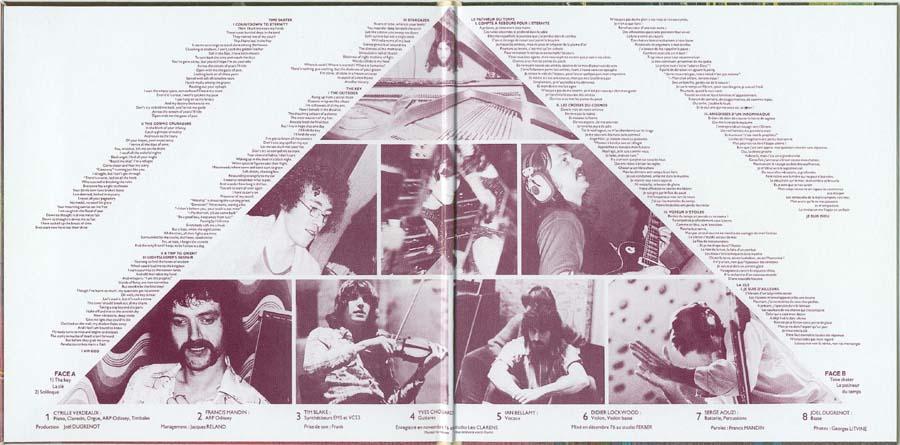 Inside gatefold cover, Clearlight - Les contes du singe fou
