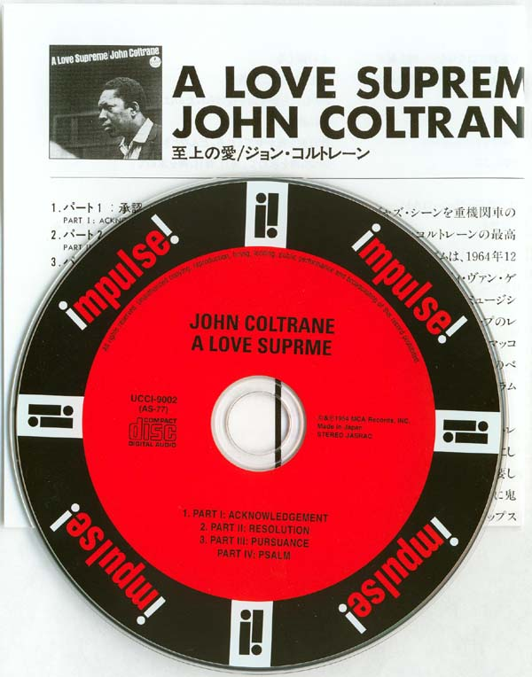 CD and insert, Coltrane, John - A Love Supreme