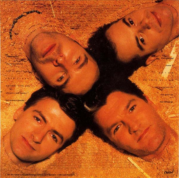 Back cover, Crowded House - Woodface