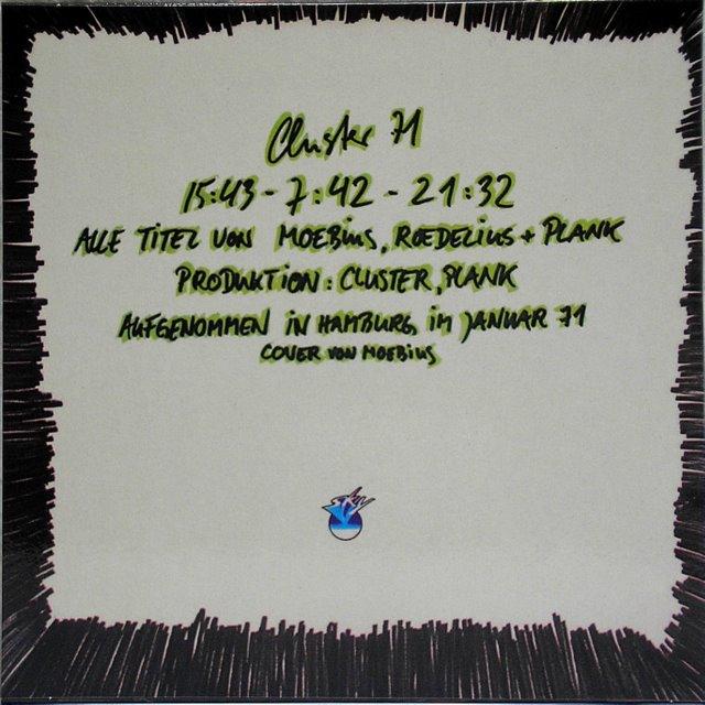 Back Cover, Cluster - '71