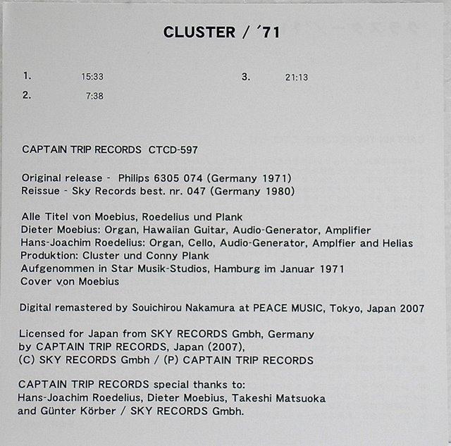 Insert, Cluster - '71