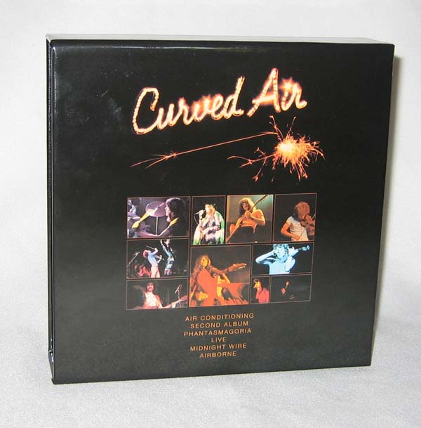 Back of box, Curved Air - Live Box