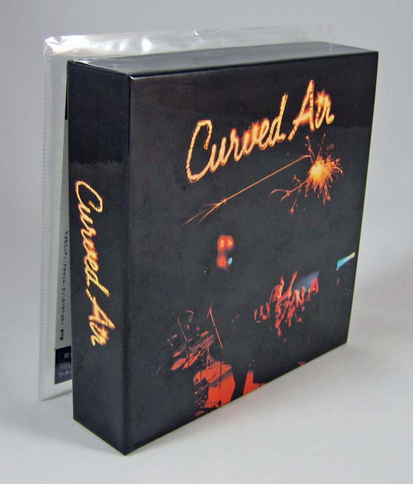 Box with oversized first album, Curved Air - Live Box