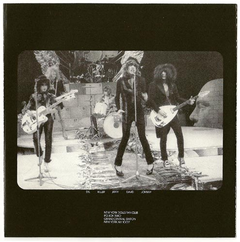Inner sleeve side A, New York Dolls - In Too Much Too Soon