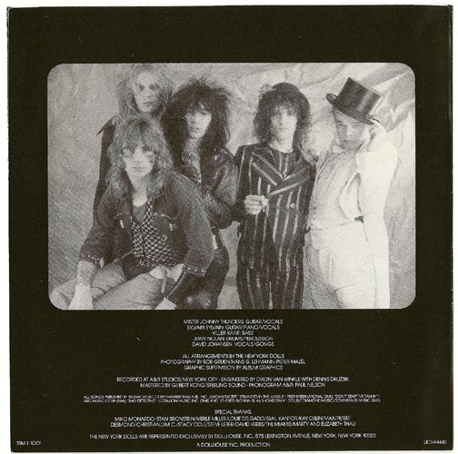 Inner sleeve side b, New York Dolls - In Too Much Too Soon