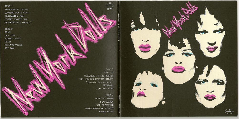Promo Sleeve Gatefold open, New York Dolls - In Too Much Too Soon