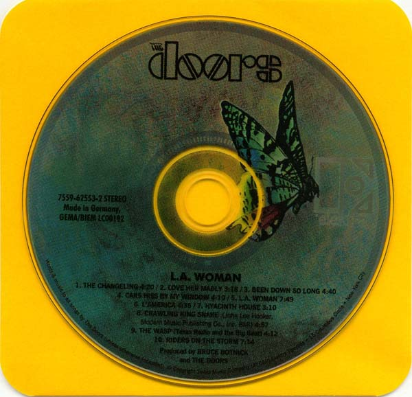 CD and inner sleeve, Doors (The) - L A Woman