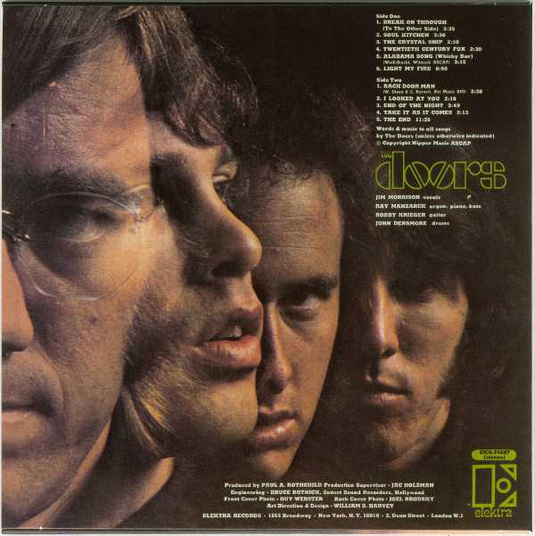 Back cover, Doors (The) - The Doors +3