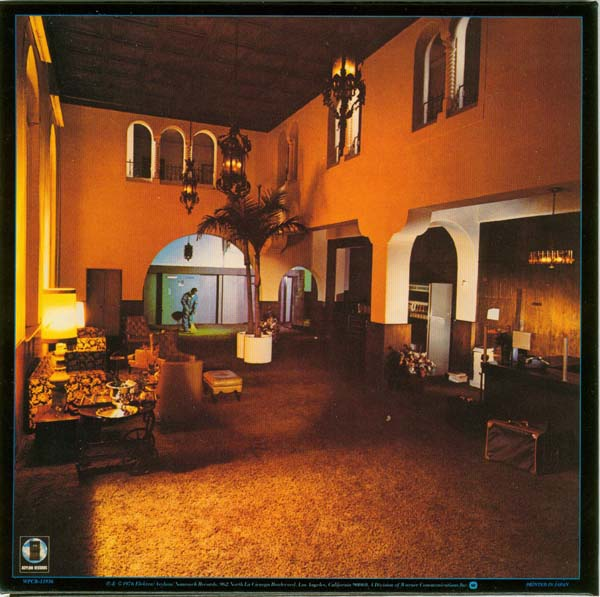Back cover, Eagles - Hotel California