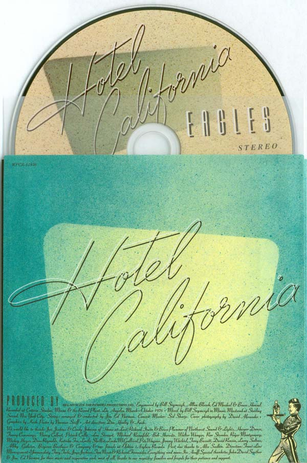 Inner sleeve and CD, Eagles - Hotel California